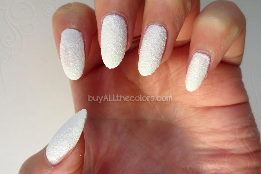 White acrylic nail polish